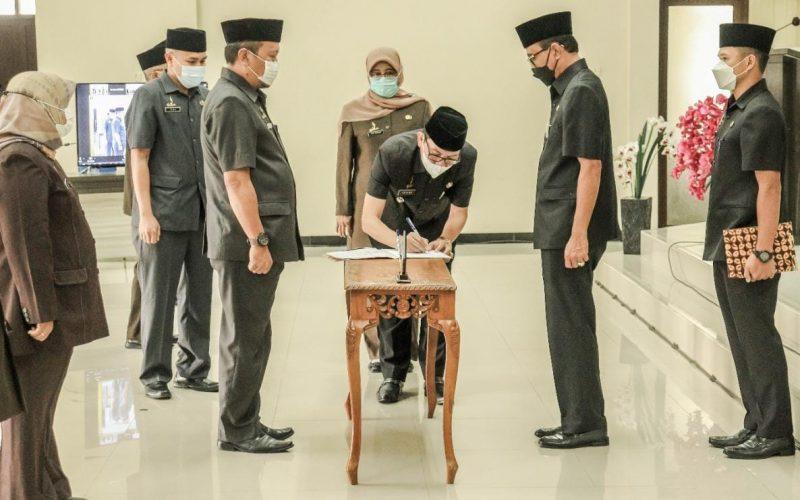 Bupati Ciamis Lantik 88 Pejabat Administrator dan Pengawas